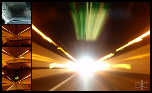 Enasan Tunnel. Warp speed.