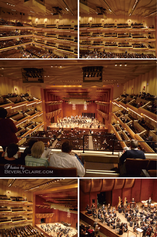 Views of the concert hall interior at the Avery Fisher Hall.