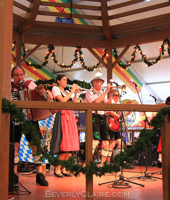 The Woho and Kalendar Band performing at the Yokohama Oktoberfest 2012