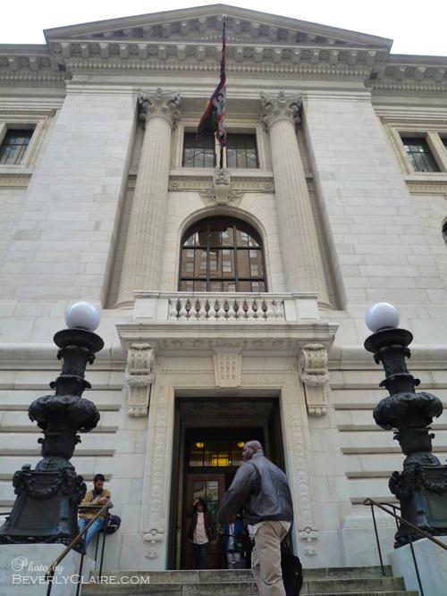 Side entrance.
