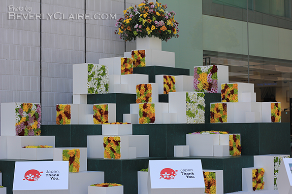 Floral display at the Sony Building for Spring 2012