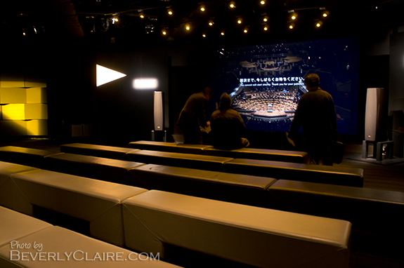 Inside the theater, before the show started