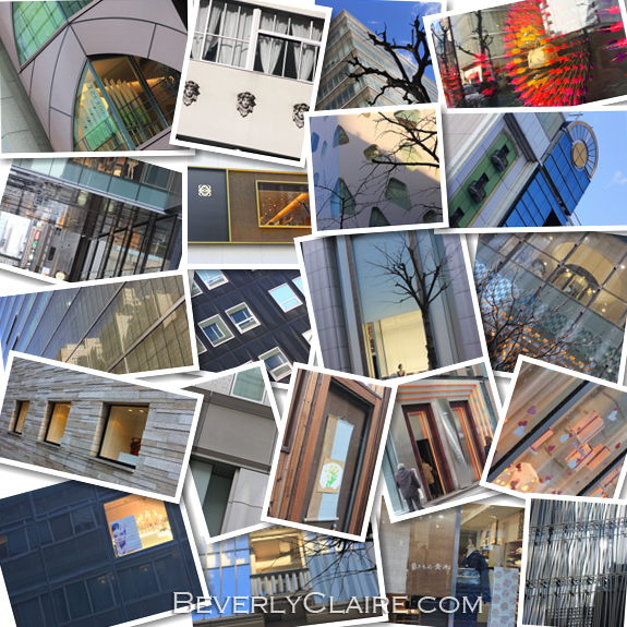 A variety of windows at Ginza