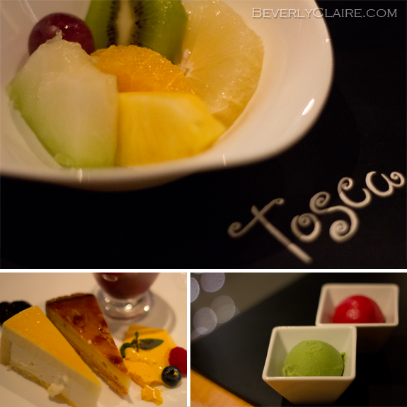 A sampling of the dessert buffet at the Cafe Tosca