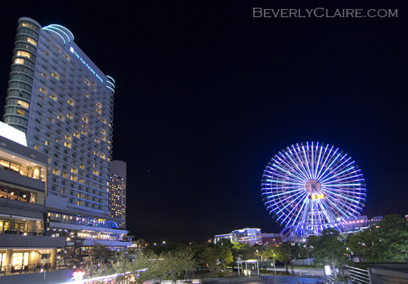 The Pan Pacific Yokohama Bay Hotel and the Cosmo Clock 21 Ferris wheel