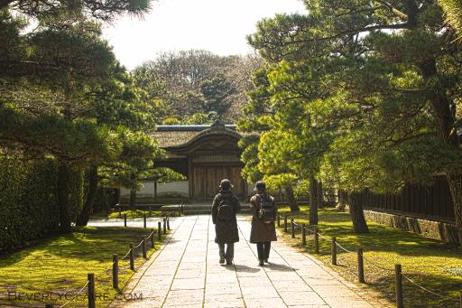 A walk with a friend at Sankeien Garden