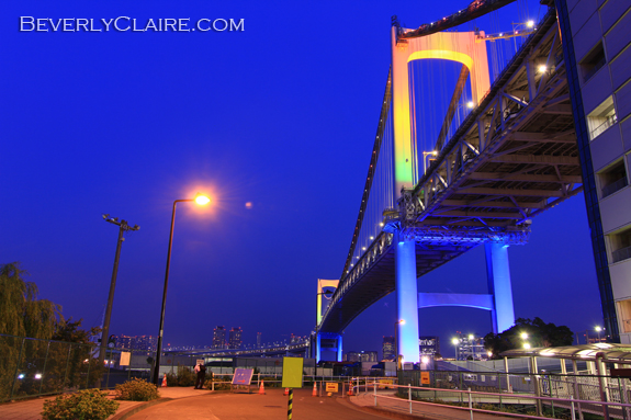 Rainbow Bridge in Tokyo by Beverly Claire Kaiay